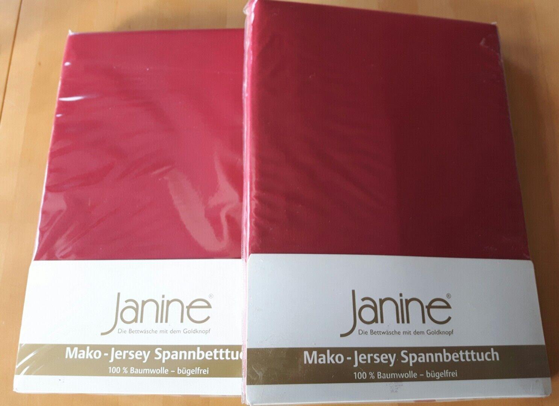 2 Janine Mako-Jersey Spannbetttücher NEU
