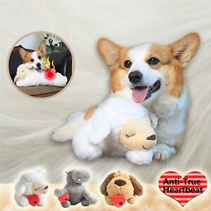 Dog Heart beat Toy Puppy Behavioral Aid Toy Heart beat Plush Toy for Pet Puppy