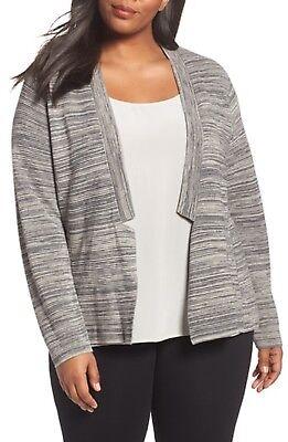 $288 Eileen Fisher Maple Oat Tencel /& Organic Cotton Simple Cardigan  2XS L