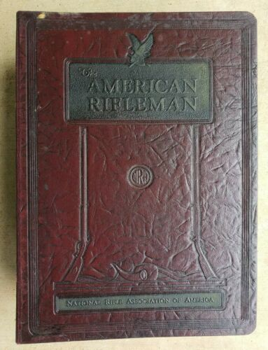 The American Rifleman Magazine NRA 1951,1953,1954OR 1955 Leather Binder PICK ONE