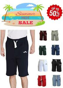Nuevo-Bigote-Pantalones-Cortos-Liso-Hombre-Casual-de-Algodon-Polar-Pequena-A-2XL