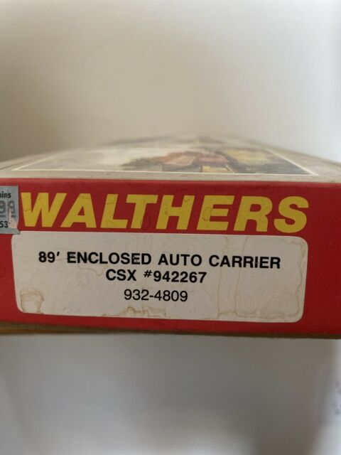 Walthers HO Scale 932-4809 89' Enclosed Auto Carrier CSX #942267