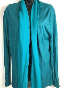 600-West-women-039-s-teal-lightweight-cardigan-size-XL-open-front-flowy-NWT