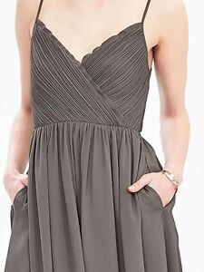 NWT-Banana-Republic-New-158-00-Women-Strappy-Crossover-Vee-Dress-Size-10
