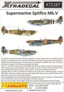 Xtradecal 1//72 Supermarine Spitfire Mk Vb # 72130