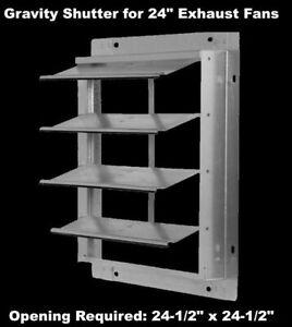 24-034-Gravity-Shutter-for-Exhaust-Fan-Wall-Mount-Backdraft-Damper-Aluminum-Blades