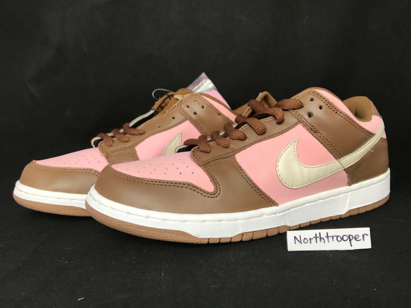 2005 Nike Dunk Low Pro SB STUSSY Shy Pink Vanilla 304292-671 Sz10 Sz10.5 NIB