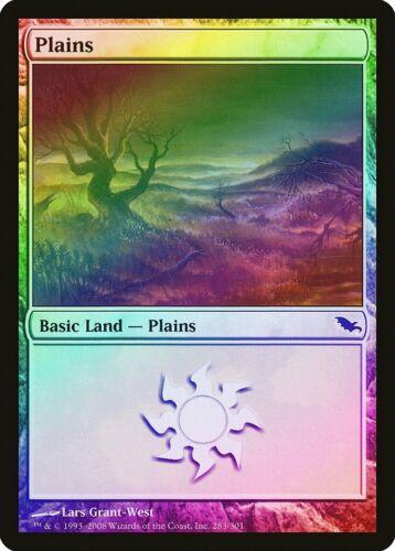 283 Plains FOIL Shadowmoor PLD Basic Land MAGIC THE GATHERING CARD ABUGames