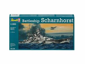 Battleship-Scharhorst-1-1200-Plastic-Model-Kit-REVELL