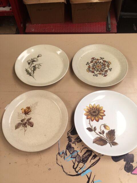 4 X Vintage 1970s Johnson Of Australia Ceramic Stoneware Dinner Plates