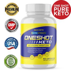Offizielle Keto One Shot Gewichtsverlust Pillen Ergänzung Keto Fat Burner 60 Kapseln