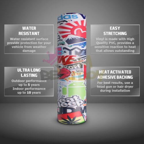 *JDM Racing Graffiti StickerBomb Vinyl Decal Sticker Car Wrap Sheet Film #LIO