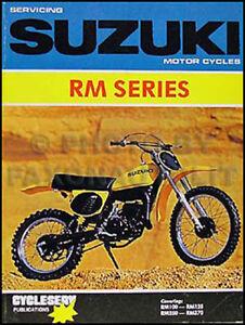 1976 1981 Suzuki Rm250 And Rm370 Repair Shop Manual Rm 250 370 Cycleserv Book Ebay