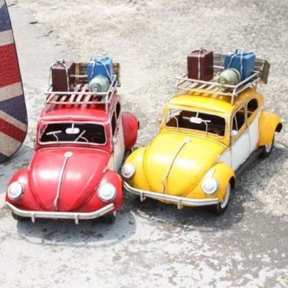 Leksaker bils Miniatyr pojkar flickor Steel årgång Travel bil 7308 (B  Y) -Gul