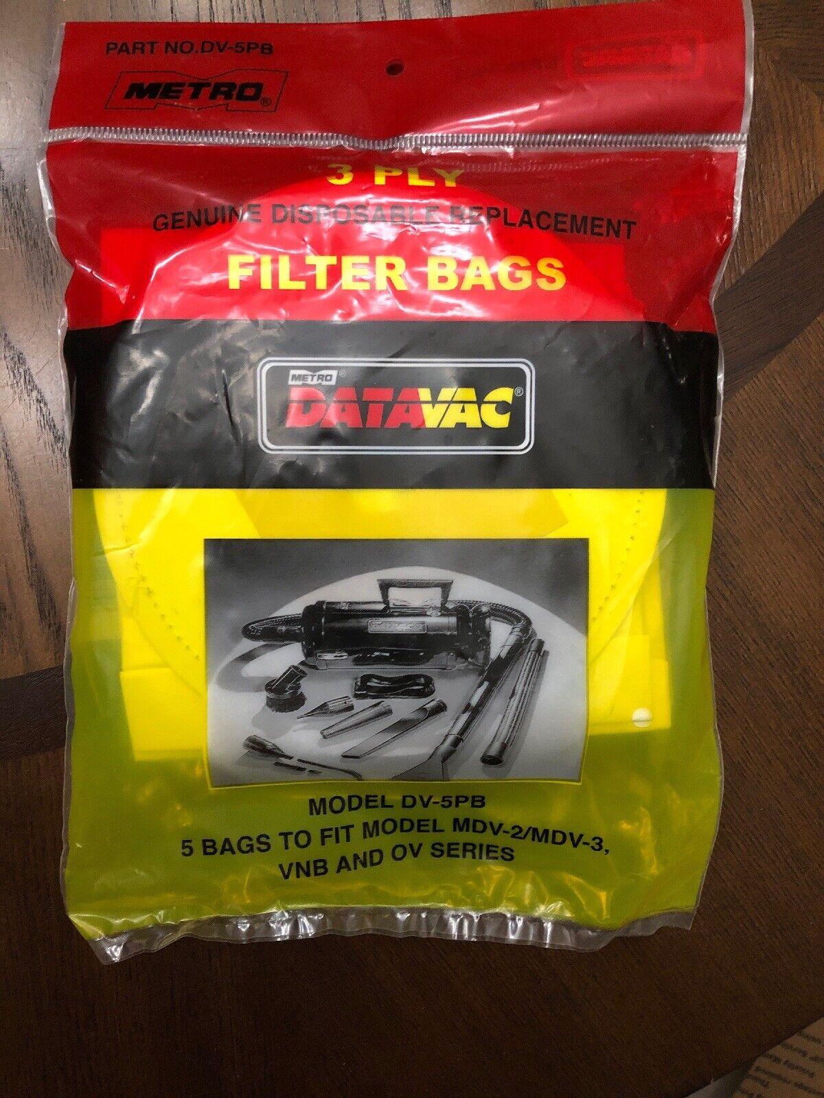 Metro Datavac Vacuum Cleaner Bags Mdv 2 Mdv 3 Vnb Ov Dv 5pb For Sale Online Ebay