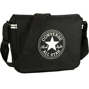 Umhängetasche Überschlagtasche Tasche Converse Schultertasche Courier Zip Black wExwdq