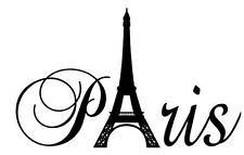PARIS TOWER Vinyl Wall Art Decal Quote Words Lettering Decor Girls Room Sticker