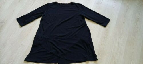 GUDRUN SJODEN organic cotton black top tunic size