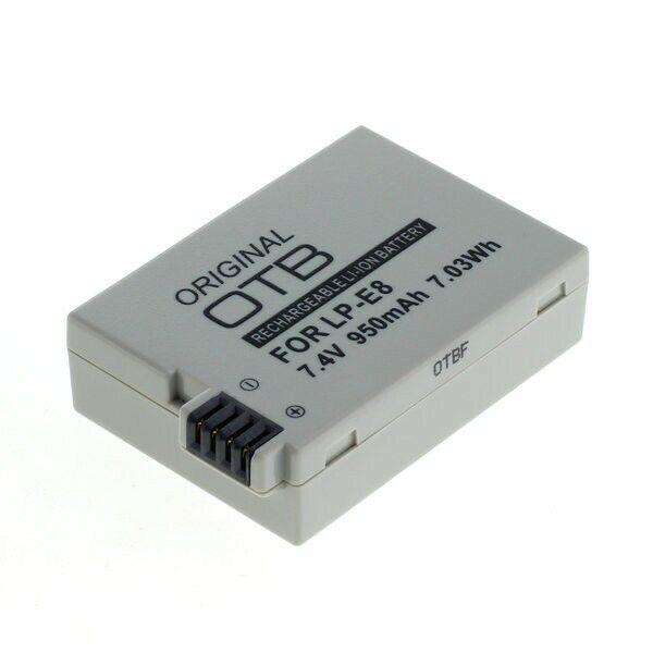 Original OTB Batería LP-E8 Para Canon EOS 550D 600D 650D 700D Rebel Kiss