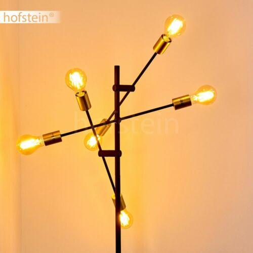 Vintage schwarz//goldene Lese Boden Stand Steh Lampen Schlaf Wohn Zimmer Leuchten