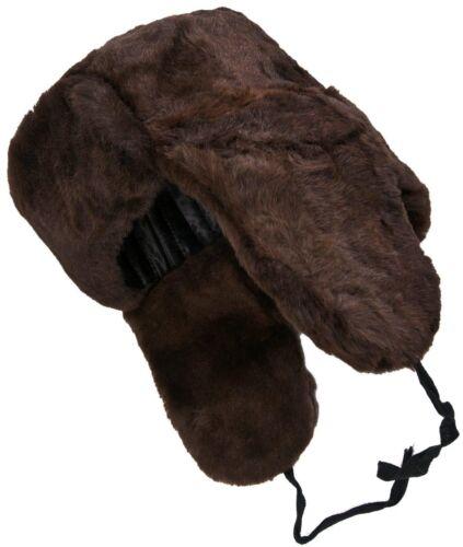 Dark brown sheepskin ushanka Warm! Lambskin Russian winter hat with earflaps