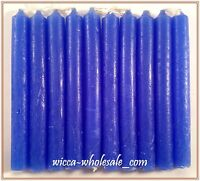 "10 BLUE MINI 4"" CANDLE MAGICK CANDLES (Spell Altar Chime Wicca Pagan Ritual)"