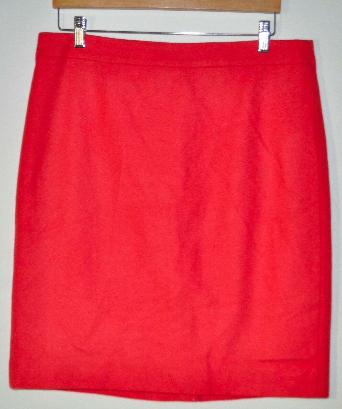 NEW J.Crew Size 12 Women's Salmon Pink Wool Blend Skirt Knee Length Lined  89.50