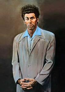 """Seinfeld The Kramer Painting - QUALITY CANVAS PRINT Tv Series Poster - 12x8"""""""