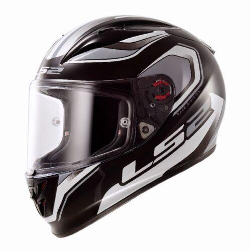 Geo Black//White LS2 Arrow Motorcycle Helmet