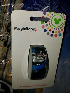 Disney-Epcot-Test-Track-Mickey-Goofy-Donald-Black-Magic-Band-2-Magicband-Parks