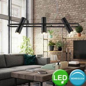 Design Pendel Decken Leuchte Wohn Ess Zimmer Hänge Lampe Strahler schwarz-matt