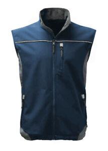 DBlade Mens Softshell Gilet Hooded Bodywarmer Stylish Work Wear S M L XL 2XL
