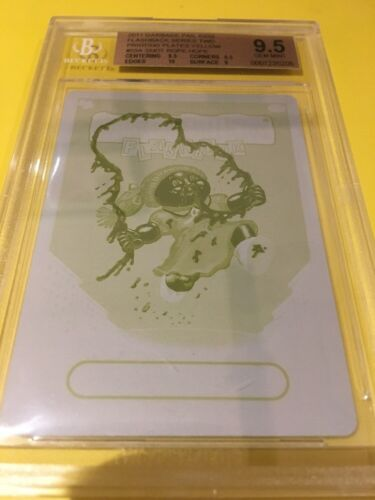 Garbage Pail Kids Yellow Snot Rope Hope Printing Plate Flashback 2