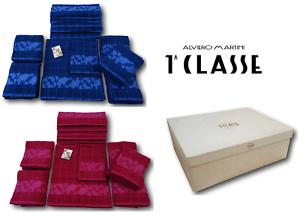 ALVIERO MARTINI 1^ CLASSE Completo 12 toallas esponja ZEUS. 6 Viso + 6