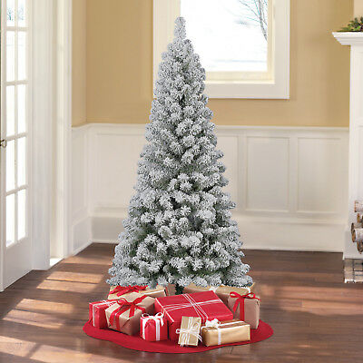 Holiday Time Christmas Tree.Holiday Time 6 Ft Unlit Greenwood Pine Artificial Christmas Tree Green Flocked 887628004616 Ebay