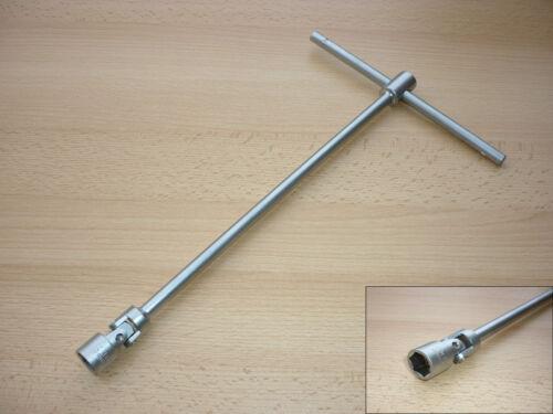 Gelenk-Steckschlüssel 340mm SW 8 bis 19mm T-Griff  Kardangelenk Verlängerung