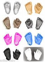 New BabyRice Baby Casting Kit 3D Plaster Handprints Footprints Hand Foot Casts