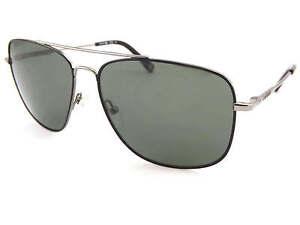 ae110529cc Image is loading LACOSTE-square-metal-Sunglasses-Gunmetal-Black-Dark-Green-
