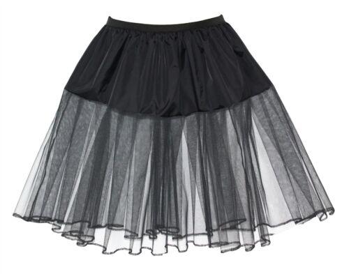 """Plus Taille 24/"""" Noir Rock N Roll jupon robe fantaisie large"""