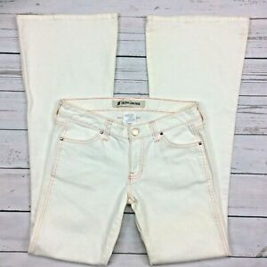 picked up choose official exclusive deals Details about Gap Ultra Low Rise Flare Jeans Size 4L Long Womens White  Denim Button Pockets