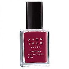 3 X Avon True Color Pro Nail Enamel Royal Red
