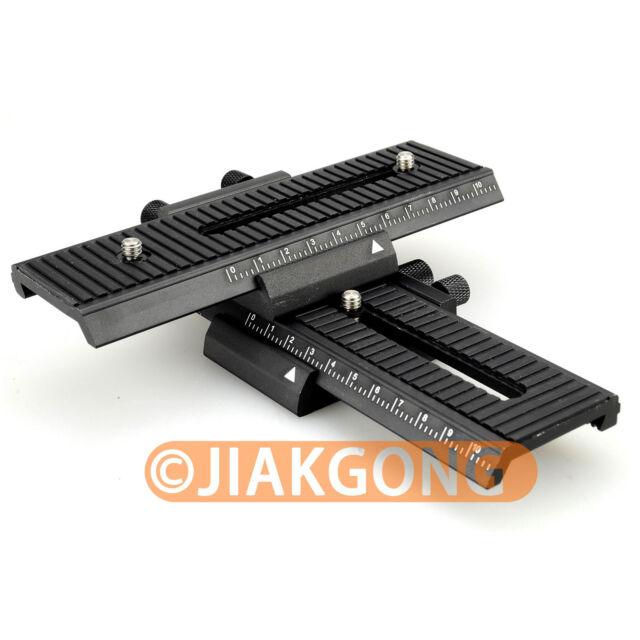 DSLRKIT 4 way Macro Shot Focusing Focus Rail Slider for CANON NIKON SONY Camera