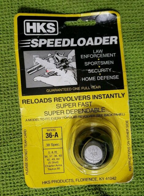 Lot of 2 HKS 36-A Speedloader 38//357 S/&W J frame 36 442 60 RUGER SP101 TAURUS 85