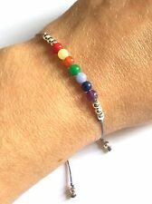 Just Gemstones 7 Stone Chakra Yoga Balance Reki Bracelet