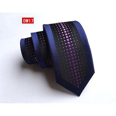 Mens Stylish Floral Jacquard Skinny Silk Tie Wedding Party Formal Necktie