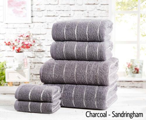100/% Combed Cotton Super Soft Absorbent 6 Piece Bathroom Towel Bale Set