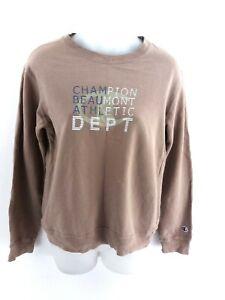 CHAMPION-Pull-Femme-Sweater-S-petit-en-coton-marron-Beaumont-Athletic-Dept