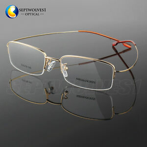 half titanium alloy reading glasses