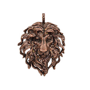 Kirks-Folly-Aslan-Lion-King-Pendant-Coppertone-with-KF-Gift-Box