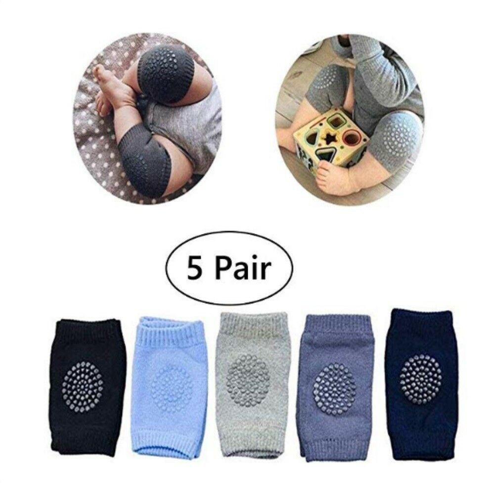 Blue Unisex Comfortable 3D Mesh Design Elbow Leg Pads Anti-Slip Adjustable for Infant Toddlers Girls and Boys KITTENSOLA Baby Knee Pads for Crawling 2 Pairs